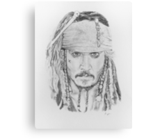 Johnny Depp as Captain Jack Canvas Print
