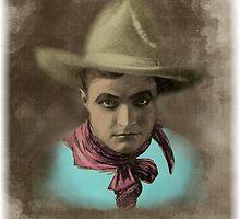 Vintage Cowboy Illustration by Tickleart