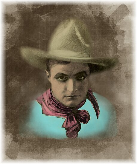 Vintage Cowboy Illustration by Tickleart