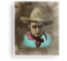 Vintage Cowboy Illustration Metal Print