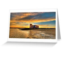Lifeboat Station Sunset Greeting Card