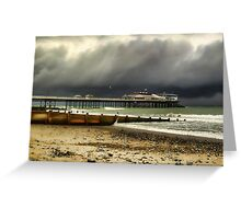 Cromer Pier Storm Greeting Card