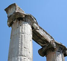 Stone Carved Columns, Temple of Aphrodite by taiche