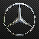 Mercedes Logo in Silver Chrome by Chromed