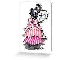 Girly Schnauzer Greeting Card