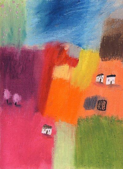 Little village by Tine  Wiggens