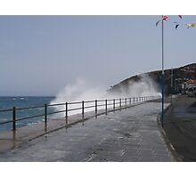Spray Splashing over Promenade Photographic Print