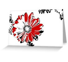 Gerbera - Black White And Red Series Greeting Card