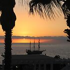 Sunsetting on the Tall Ship by Avril Harris