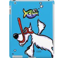 White Schnauzer Snorkel Buddy iPad Case/Skin