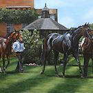 Across the Parade Ring, July Course, Newmarket by Stephanie Greaves