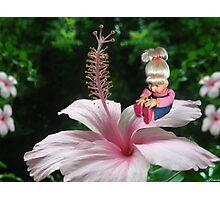 ☀ ツ MY LITTLE FLOWER GIRL ☀ ツ Photographic Print