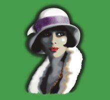 Girl's Twenties Vintage Glamour Portrait Kids Clothes
