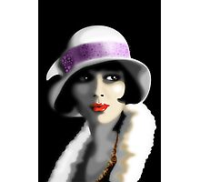 Girl's Twenties Vintage Glamour Portrait Photographic Print