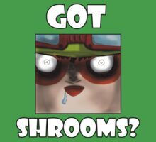 Teemo (on) Shrooms by Exos-lividfire
