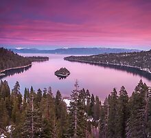 Emerald Bay in Pink by Richard Thelen