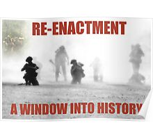 VE Day Re-enactment Poster
