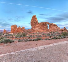 Early Morning Turret Arch by activebeck2012