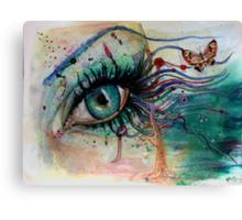 Blink of eyes - 4 Canvas Print