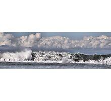 Moody Seas over the Canoe Pool - Newcastle Beach NSW Australia Photographic Print