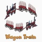 Settler&#x27;s Wagon Train T-shirt by Dennis Melling