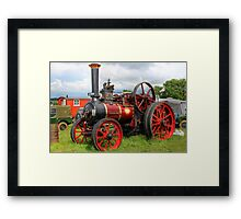 Evedon Lad Traction Engine Framed Print