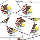 Iphone Case - State Flag of Illinois - Multiple by Mark Podger