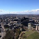 Princes Street, from Calton Hill. Edinburgh by LBMcNicoll