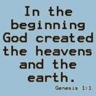Genesis 1:1 (Bible Verses) by aforceofnature