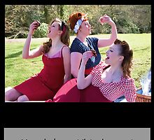 Vintage Girls Picnic- Eat cake by AmandaJanePhoto