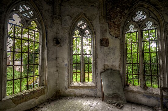 chapel in abandoned castle by Nicole W.