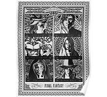 Final Fantasy Jobs Geek Art Poster Poster