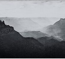Beauty (Monochrome) - Jamison Valley, Blue Mountains World Heritage Area, Katoomba NSW - The HDR Experience by Philip Johnson