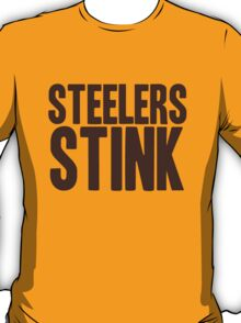 Cleveland Browns - Steelers stink - brown T-Shirt