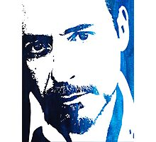 rdj in blue Photographic Print
