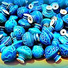Blue pottery ceramic knobs by ©The Creative Minds