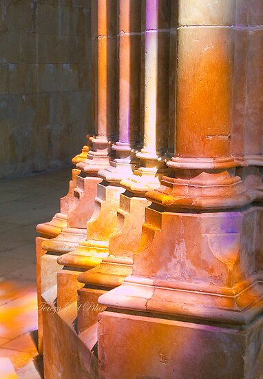 Batalha Monastery. stained glass colors on stone by terezadelpilar~ art & architecture