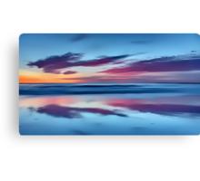 Purple Clouds on a Blue Sea Canvas Print