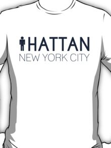 Man hattan Tee - New York City - Yankee Blue Lettering T-Shirt