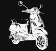 Modern Scooter Illustration by GASOLINE DESIGN
