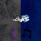 Vinyl Scratch and Octavia Grunge iPhone Case by tychilcote