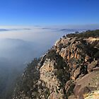 Mt Buffalo above smog by Charles Kosina