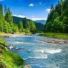 Mountain river by pellinni