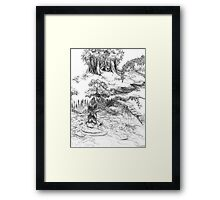Forest Falls  Framed Print
