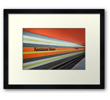 On the run... Framed Print