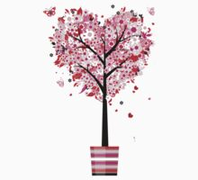 Floral Heart Tree Kids Clothes