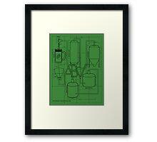 Alcohol By Volume Design (Black) Framed Print
