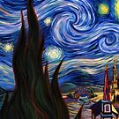Van Gogh Stary Night iPhone Case by jlerner