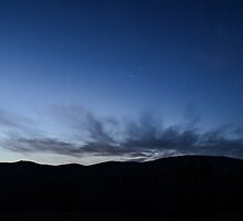 Woodbury Mountain After Sunset by Sara Bawtinheimer