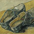 Vincent van Gogh - A pair of leather clogs by TilenHrovatic